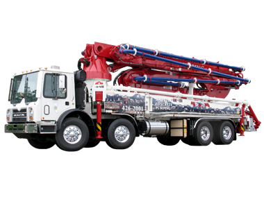 43 meter 4 section Roll-Fold Concrete Boom Pump