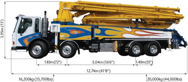 48 Meter 5-Section RZ Boom Pump - Concrete Pump