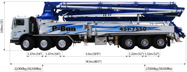 56 Meter 5-Section RZ Boom Pump - Concrete Pump