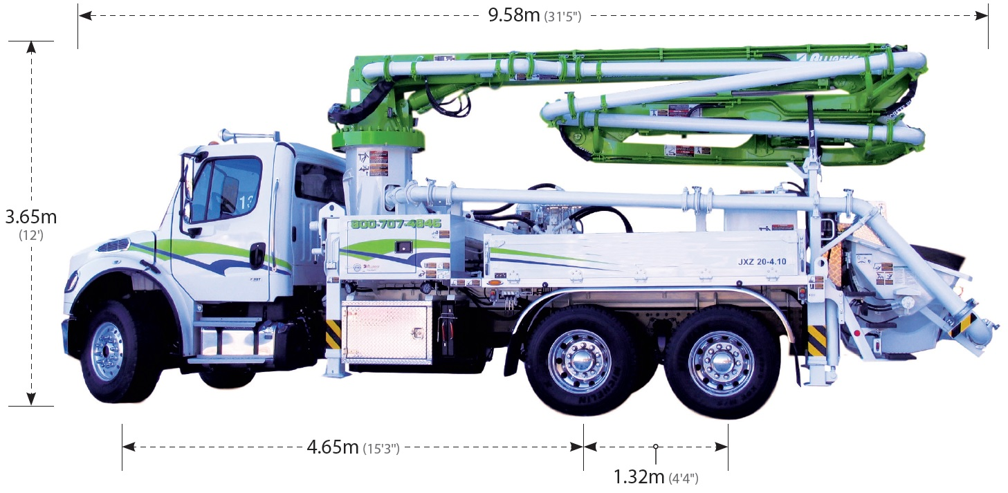 28 Z-Fold Boom Pump - Concrete Pump