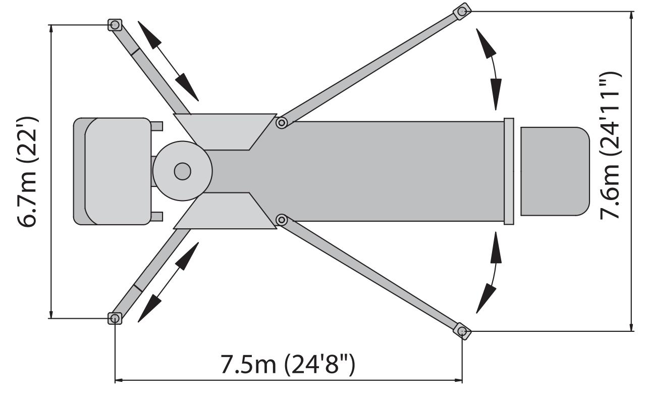41 meter roll fold boom concrete pump