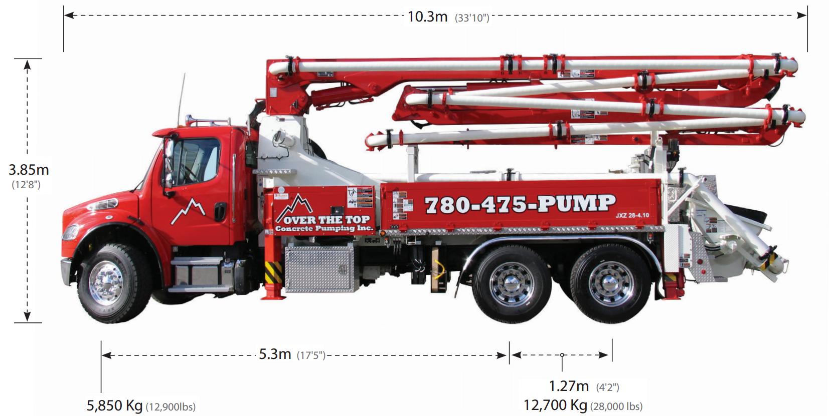 28 Meter Z-Fold Concrete Boom Pump | Alliance Concrete Pumps