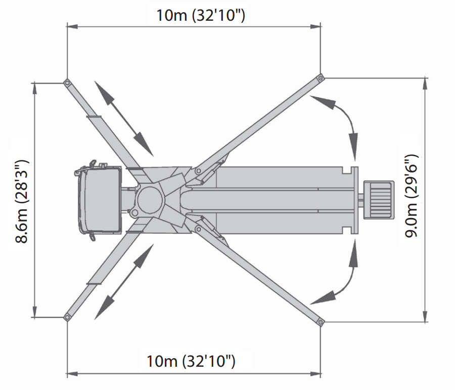 47 Meter 5 Section Rz Boom Concrete Pump Alliance